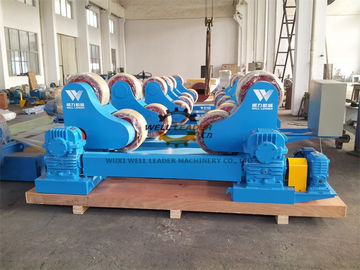 China 100 Ton Heavy Duty Pipe Rollers Rotator With Moving Wheels CE Approved supplier