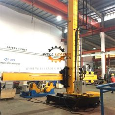 Fixed Base Column And Boom Welding Manipulators With Manual Control Box