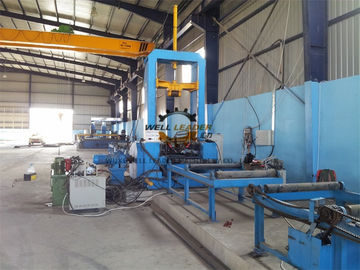 China Heavy Duty H Beam Assembly Machine CO2 Spot Welding 1.5m Web Height supplier