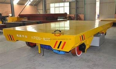 China Heavy Duty Rail Flat Electric Transfer Cart 100ton Table 1800x3000mm On tracks supplier