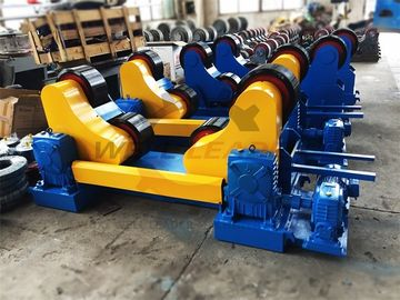 Standard 20 Ton Industrial Pipe Welding Rotator PU Rollers For 20m Pipes Welding