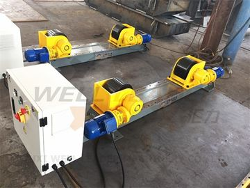 China 5000kg Adjustable Turning Roller Bed For Pipes Tanks Cylinders Rotation Sefl Centering supplier