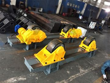 China 120 Ton Tank Turning Roller Bed for Offshore Construction 6m Diameter Double Driver supplier
