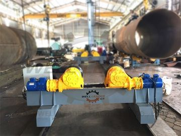 Motorized Moving Fit Up Welding Turning Rolls , Hydraulic Adjustable Wind Tower Rotator Rollers