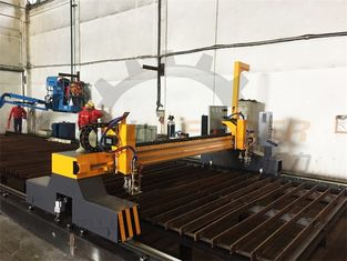 CNC Flame Cutting Machine 4m Span Two Heads Double Servo Drivers Thick Plate