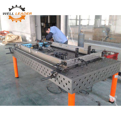 China 5 Working Surface Certiflat Welding Table Plate For Welding Assemble factory