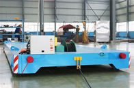 China Heavy Duty Rail Flat Electric Transfer Cart 12 Ton Capacity 4mx1.8m Table company