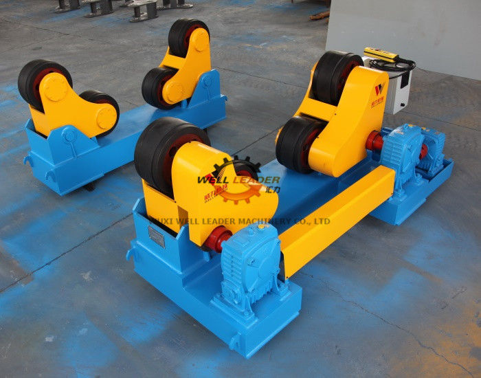 Rubber Wheel Conventional Pipe Welding Rotator 40 Ton Loading Capaicty supplier