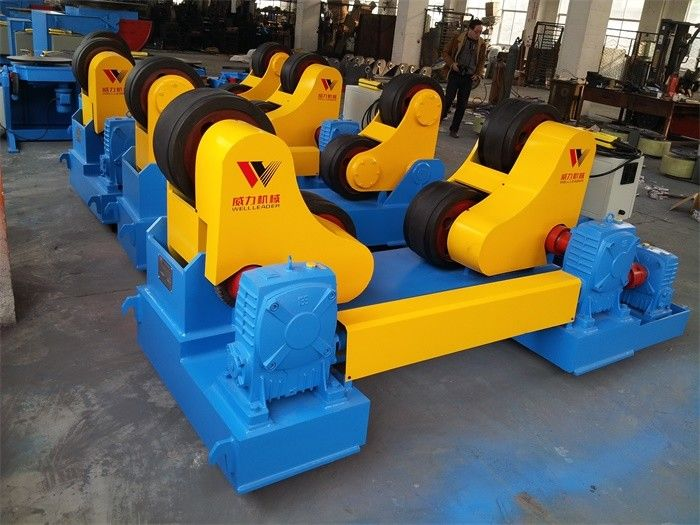 Adjustable Self Aligned Rotator Welding Widen Rubber Coated With Control Cabinet