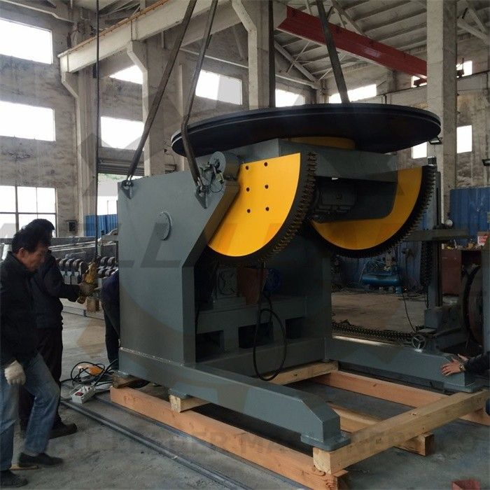 Automatic Pipe Welding Positioners 10 Ton Tilting / Rotation Capacity CE Oil-free Gearbox supplier