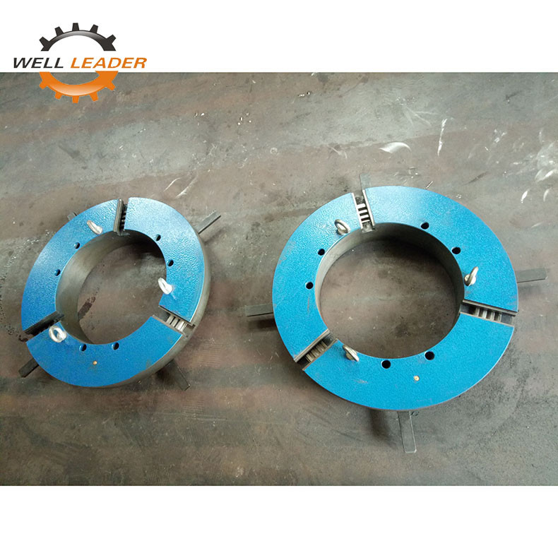 Long Life Gripper Welding Three Jaw Self Centering Chuck Casted Iron Material
