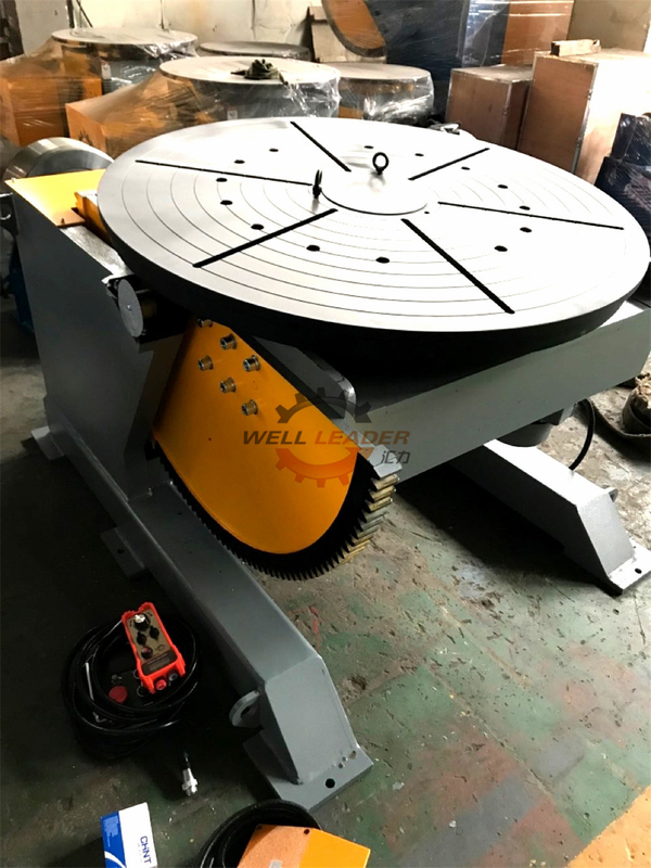 Wireless Control 3000kg Rotary Welding Positioner Turntable