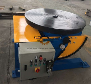 Manually Tube Welding Positioner Auto Stop 900mm Round Slot Table