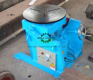 Manual Flange Rotary Table For Welding , Tube Welding Positioner 0.2 Ton Tilting  Capacity