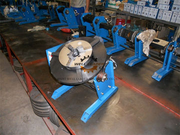 Manual Pipe Welding Positioners Table With Hand Wheel 0 - 90dgr Tilting