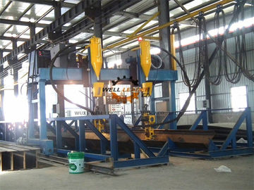 Gantry Automatically H Beam Welding Line , Shipbuild T Welding Machine