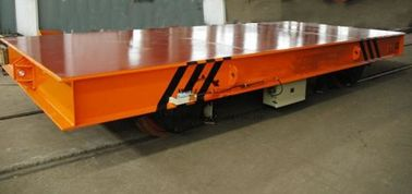 Hydraulic Lifting Material Electric Transfer Cart Trolley With Gear Reducer
