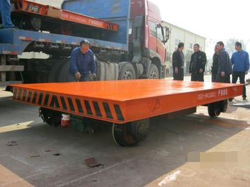 Heavy Duty Rail Flat Electric Transfer Cart For Workshop 30 Ton Capacity