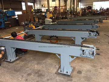Chain table for transport long beams, poles, rods driven by motor and gearbox