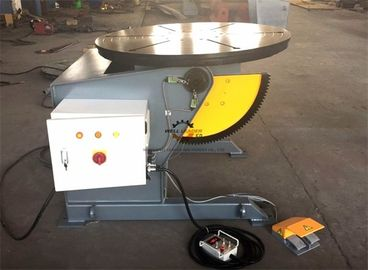 Tilting Rotary Welding Positioner Table With Hand Remote And Foot Pedal Control