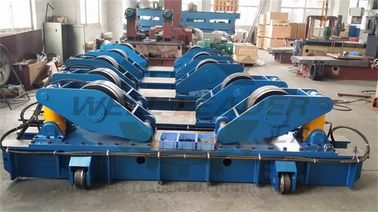 Hydraulic Fit Up Rotator 160Ton Wind Tower Growing line Move on Rails