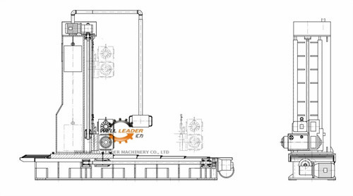 Adjustable Speed Profile Milling Machine , Vertical Milling Machine With Hydraulic Pump