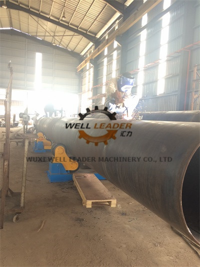 Blue Self Aligned Welding Rotator , Automatic Welding Machine 20 Ton Rotary Capacity