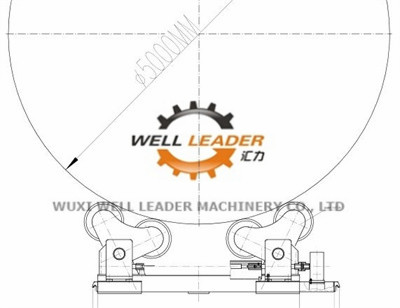 Self Aligned Rotator Turning Rolls For Tank Boiler Wind Tower Welding Fabrication