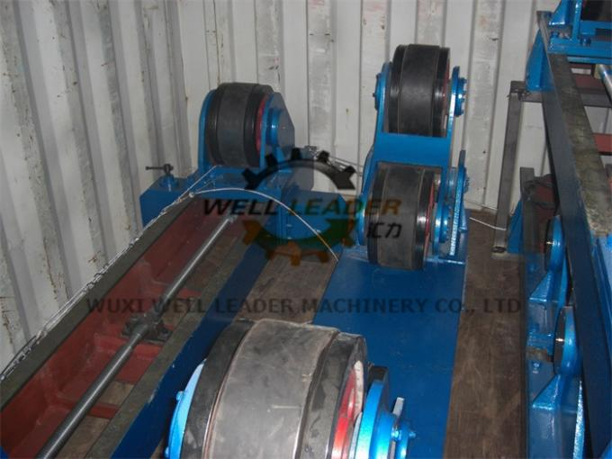 Tank Pipe Rollers Heavy Duty 100 Ton Rotary Capacity Self Centering