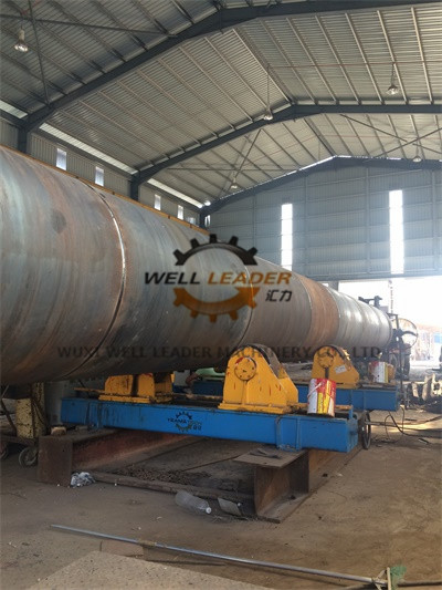 Rubber Coated Tank Turning Rolls Support Tubes / Cylinders / Pipes Rotating
