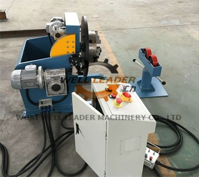 Long Tube Welding Positioner With Movable Roller Stand Vertical Control Box