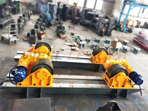 120 Ton Tank Turning Roller Bed for Offshore Construction 6m Diameter Double Driver