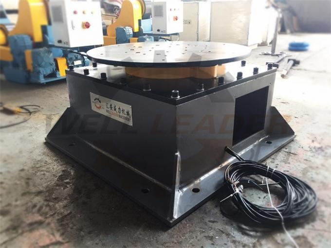 Floor Welding Positioner Turntable Unlimited Rotation 400kg Load 800mm Round Table